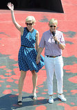Ellen DeGeneres and Portia de Rossi held hands for a March 2013 trip to Australia for Ellen's show.