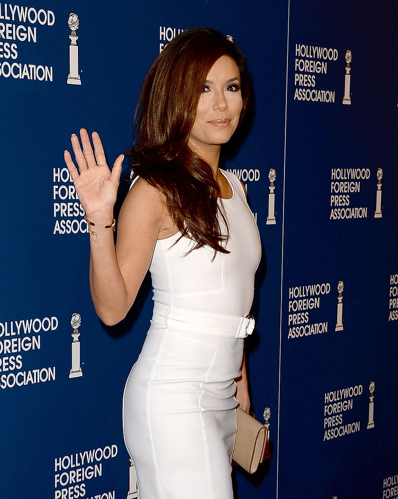 Eva Longoria waved to the cameras.
