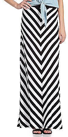 Chelsea & Theodore Striped Maxi Skirt