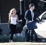 Kate Hudson filmed scenes for Wish I Was Here with Zach Braff in LA on Tuesday.