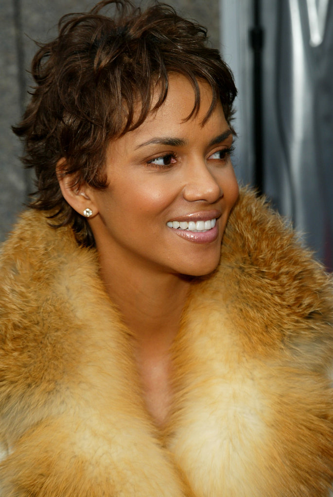 While promoting her role in Die Another Day, Halle sported a longer version of her signature short cut.