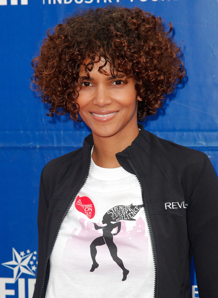 Halle's curly look last year was in preparation for a movie roll. And while the Revlon ambassador prefers to keep her makeup looks low-key, she doesn't mess around when it comes to skin care.