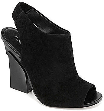 Calvin Klein Gilliane Peep-Toe Booties