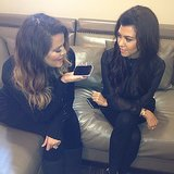 Khloe and Kourtney Kardashian did a round of phone interviews together. Source: Instagram user kourtneykardash