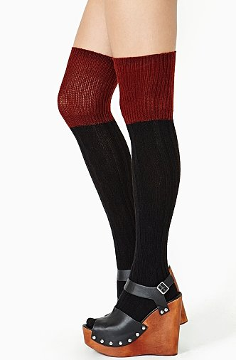 To go with your over-the-knee boots, you'll need these Nasty Gal Double Take thigh-highs (