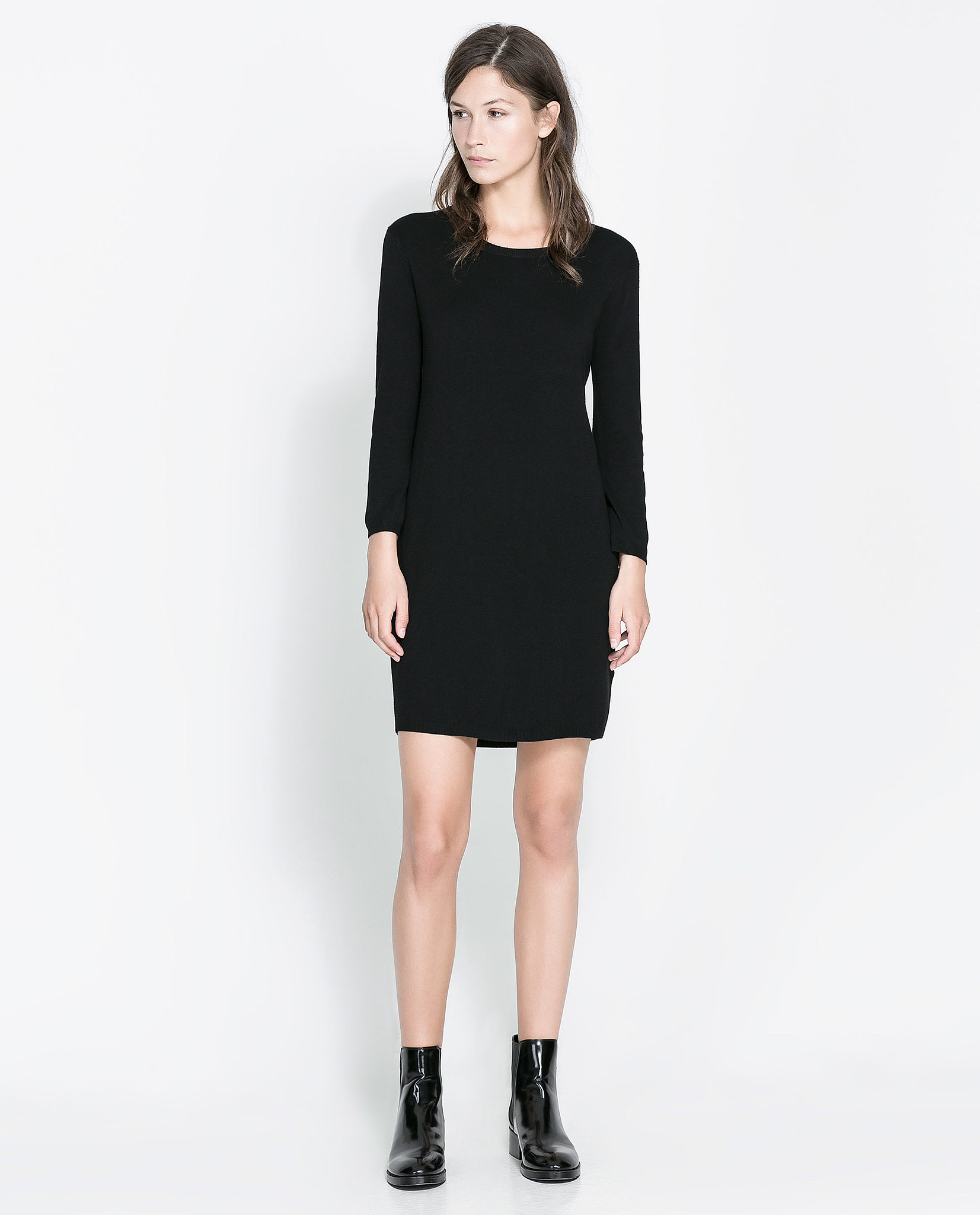 We consider Zara's zip-back dress ($50) a wardrobe essential.
