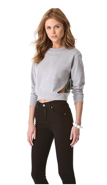 Cropped with just a hint of cutout, this Cheap Monday Laura sweatshirt ($49, originally $70) proves sweats can totally be sexy.
