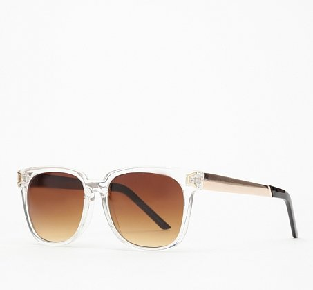 We'll wear these clear Lou sunglasses ($18) with everything — the sun never sets on the cool!