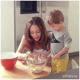 Autumn Reeser brought her son, Finn, into the kitchen for a family photo shoot. Source: Instagram user autumn_reeser