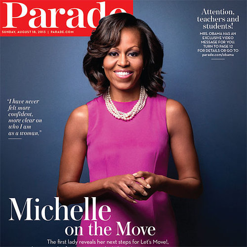 Michelle Obama Grows Out Her Bangs