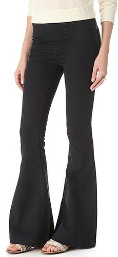 Blank denim Pull On Flare Jeans