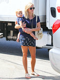 Reese Witherspoon and her baby Tennessee wore matching outfits for a trip to the toy store in LA.