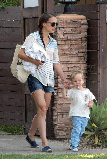 Natalie Portman and her son, Aleph, kept things casual in LA on Thursday.