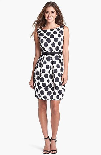 Eliza J Dot Print Tulip Sheath Dress