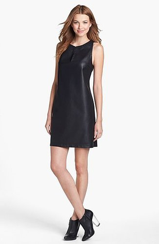 BB Dakota Faux Leather Sheath Dress