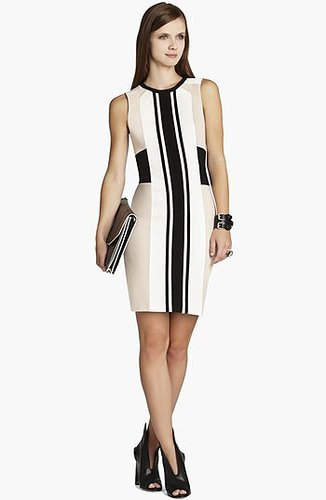 BCBGMAXAZRIA Colorblock Jersey Sheath Dress