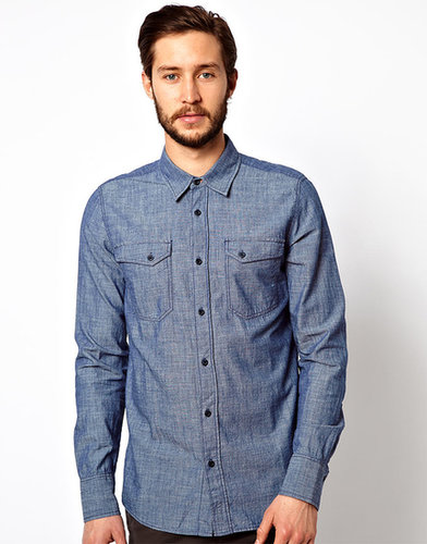 Nudie - Gunnar - Chemise en chambray de denim