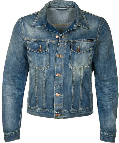 Nudie Jeans PERRY Jeansjacke bright broken