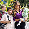 Sofia Vergara Films With Her Baby on Modern Family LA Set