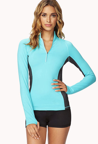 FOREVER 21 High-Collar Contrast Running Jacket