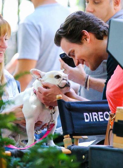 Matt Bomer hung out with his adorable costar on the set of White Collar in NYC on Thursday.