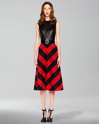 Michael Kors Leather Bodice Dress