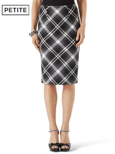 Petite Bristol Plaid Pencil Skirt
