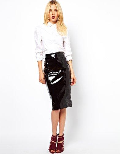 ASOS Pencil Skirt in Patent PU