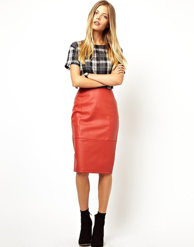 ASOS Pencil Skirt in Leather Look