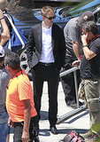 Robert Pattinson hit the set of Maps to the Stars in LA.