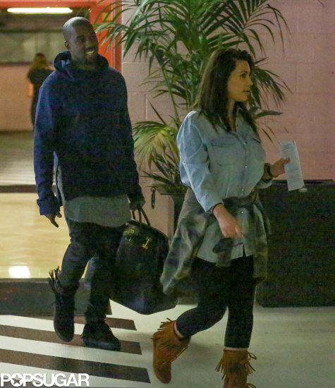 Kim Kardashian Steps Out With Baby North Before Heading to Oklahoma
