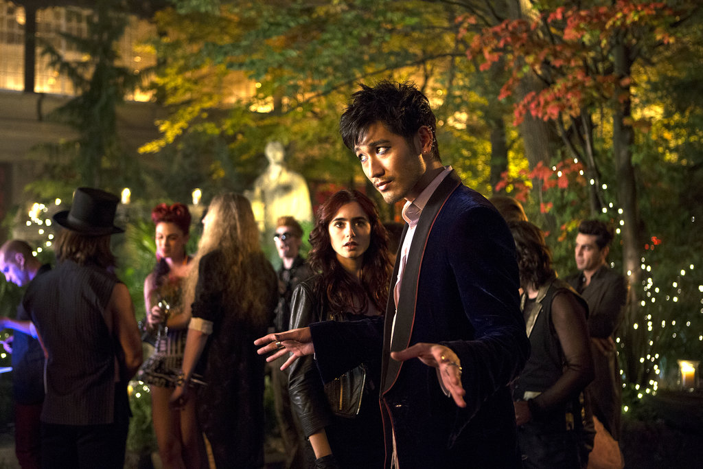 Lily Collins and Godfrey Gao in The Mortal Instruments: City of Bones.