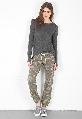 Monrow Camo Vintage Sweats - SINGER22 Exclusive in Army