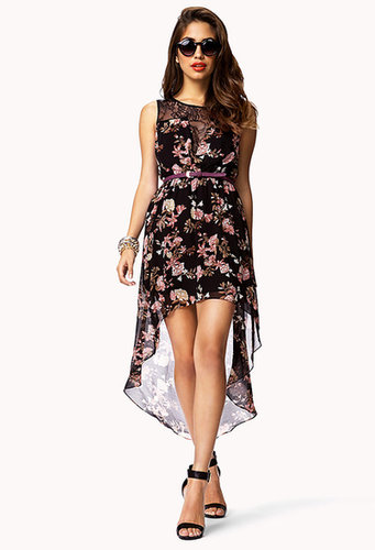 FOREVER 21 Floral & Lace High-Low Dress