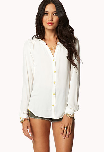 FOREVER 21 Essential Georgette Top