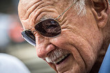 Comic book legend Stan Lee makes an appearance on the set.