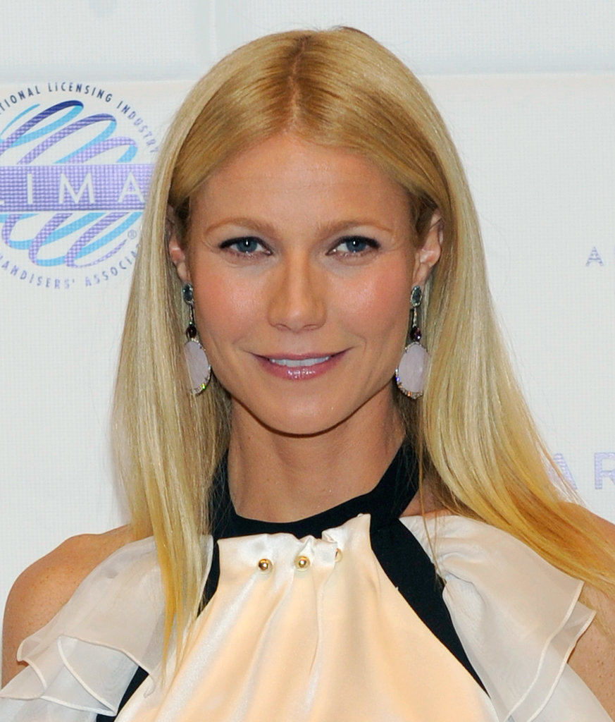"Gwyneth Paltrow's straight hair motto must be ""if it ain't broke, don't fix it."""