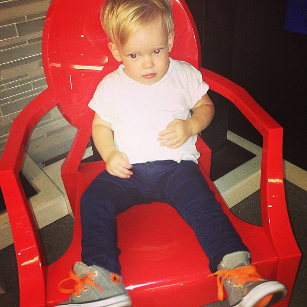 Hilary Duff marveled at how much Luca had grown back when he hit the 15-month milestone. Source: Instagram user hilaryduff