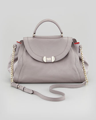 See by Chloe Mina Leather Satchel Bag, Moon