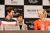 Emma Stone and Andrew Garfield shared a laugh in Tokyo during their June 2012 The Amazing Spider-Man press conference.