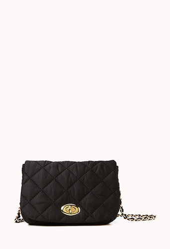 FOREVER 21 Quilted Fold Over Crossbody