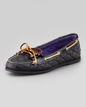 Sperry Top-Sider Audrey Quilted Leather Boat Shoe, Black
