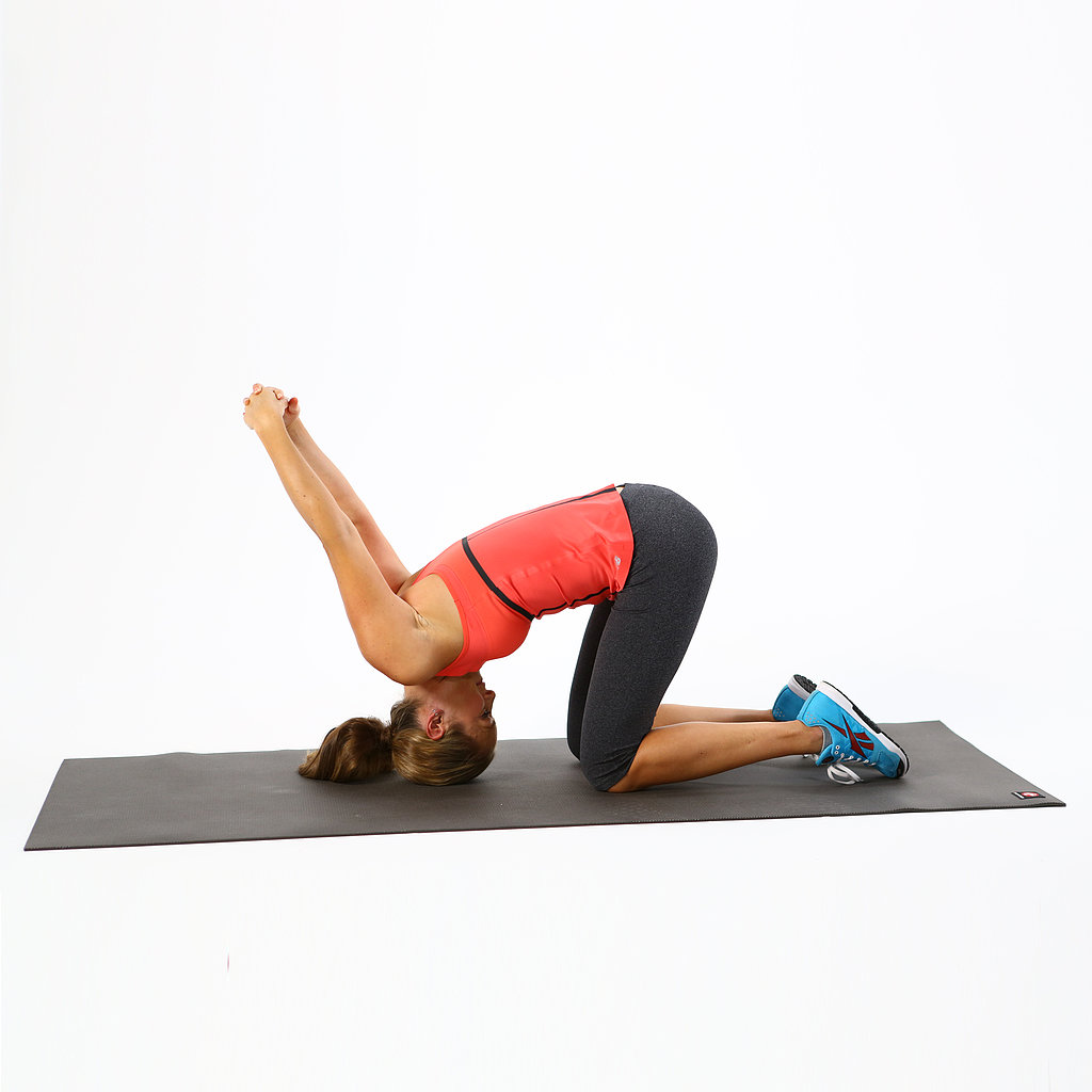 Stretches to help a sore neck or crick popsugar fitness for Floor yoga stretches