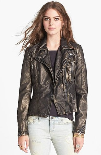 Free People Metallic Faux Leather Jacket 4