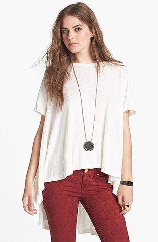 Free People 'Circle in the Sand' High/Low Tee Ivory X-Small/Small