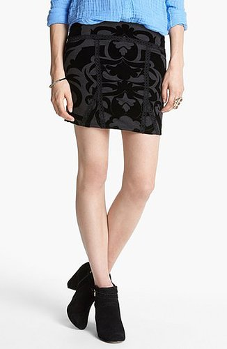 Free People 'Go for Baroque' Skirt Charcoal Combo Medium