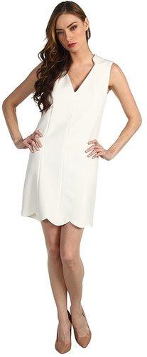 Rachel Roy - Scallop Dress (Natural White) - Apparel