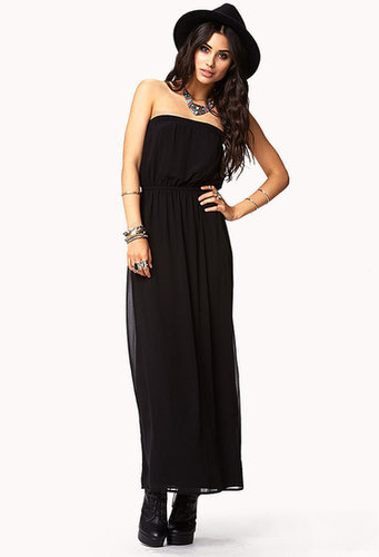 FOREVER 21 Strapless Maxi Dress
