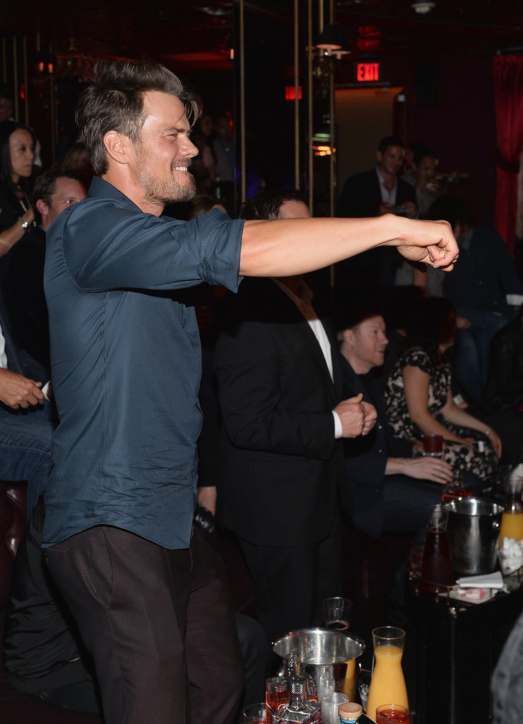 Josh Duhamel danced at the afterparty.