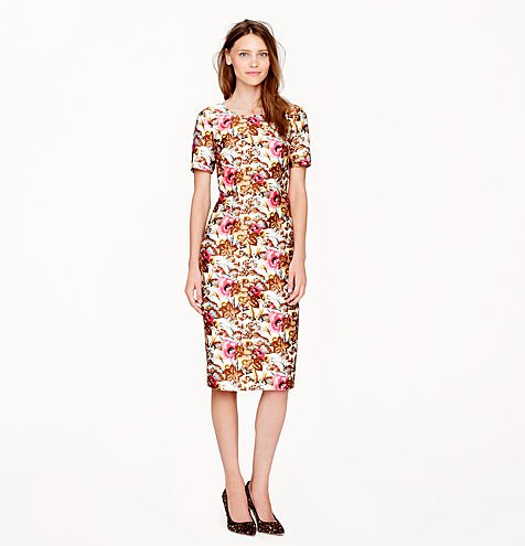 Whether you opt to wear this now with bare legs and strappy heels or later with tights and boots, you'll be happy you can turn to this work-to-play Collection Antiqued Floral Dress ($398) for just about any occasion.